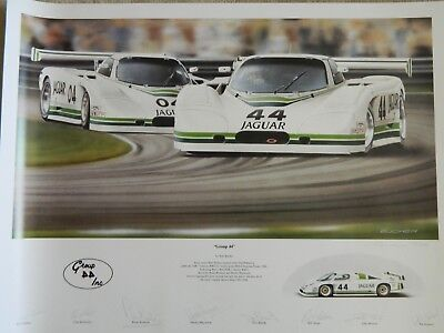 Automobilia/group 44 Jaguar/bucher/signed 8 Drivers/lemans/sebring