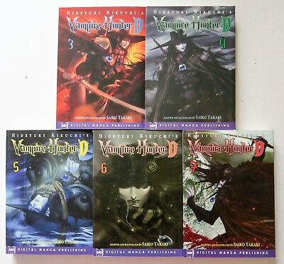 Vampire Hunter D Vol. 3 4 5 6 & 7 DMP Manga Novel Anime Comic Book Lot