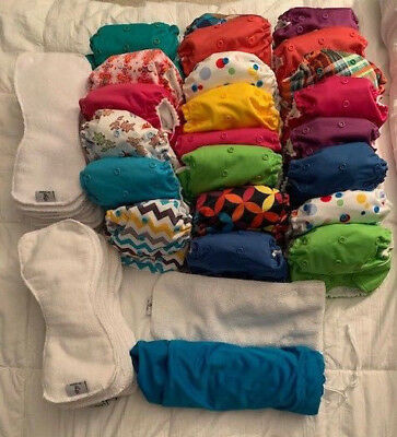 Rumparooz One Size Cloth Diapers, lot of 23 and wetbag included!
