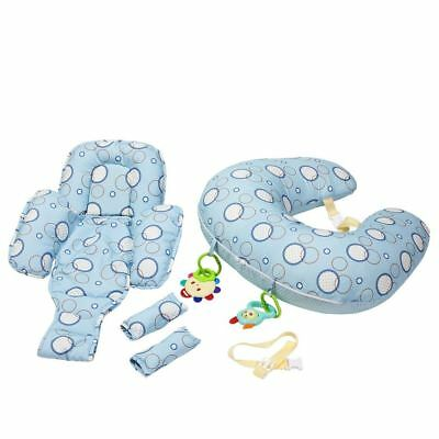 Clevamama ClevaCushion 10 in 1 Maternity Support and Nursing Foam Pillow (Blue)