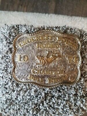 Youth champion rodeo trophy belt buckle/1971
