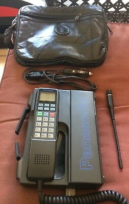 Vintage PANASONIC  Mobile Phone W/ Adapter