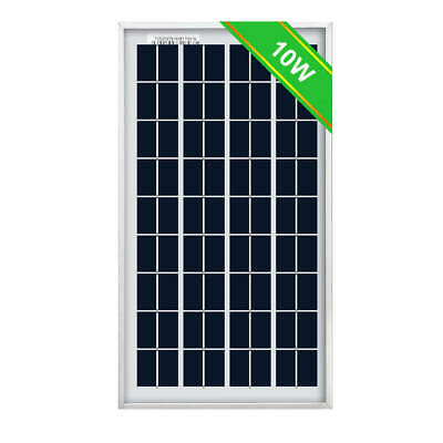 10W 12V Portable Solar Panel Sun Power Waterproof for Camping Tent Motorhome
