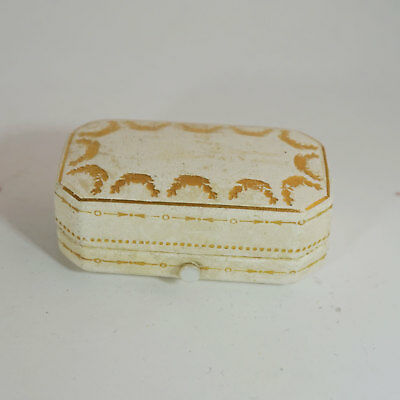 RARE Cartier antike / vintage Box for Brooch / Rings - White Mother of Pearl