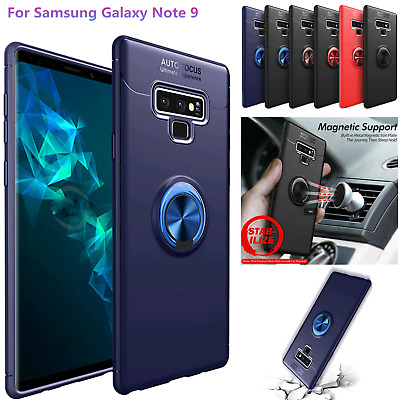 For Samsung Galaxy S9 Note 8 Heavy Duty 360° Rotated Ring Stand Armor Case Cover