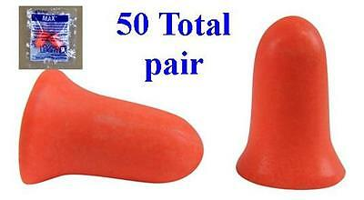 Howard Leight MAX-1 Uncorded Foam Earplug 50 Total Pairs - FREE SHIPPING!!