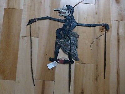 Rare Antique Java Petruk Hand Painted Leather SHADOW PUPPET sp28