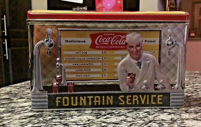 Coca Cola Fountain Service Collector's Tin Soda Shop vintage collectible