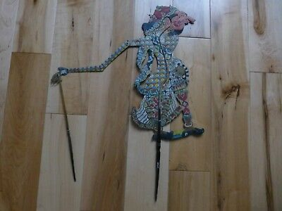 Rare Antique Indonesia Hand Painted Leather  SHADOW PUPPET sp33