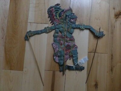 Rare Antique Indonesia Bali Hand Painted Leather  SHADOW PUPPET sp34