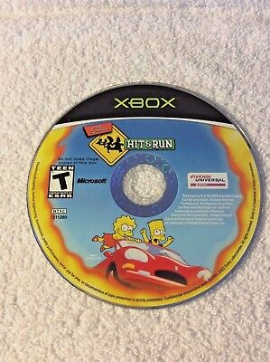 The Simpsons Hit & Run for Microsoft XBOX Video Game Disc Only