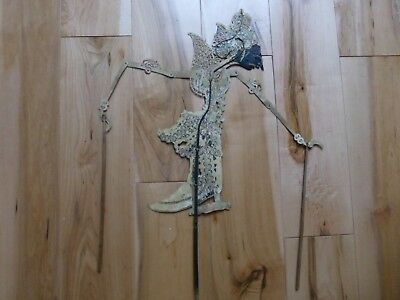 Rare Antique Indonesia Bali Hand Painted Leather  SHADOW PUPPET sp35