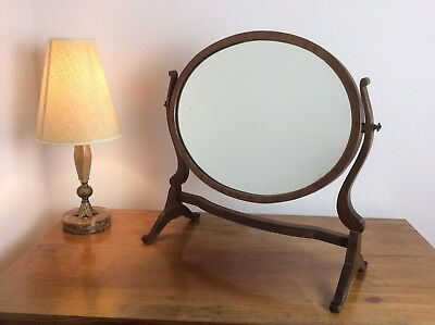 Early 20th Century Mahogany Oval Dressing Table Swing Mirror Antique Vintage