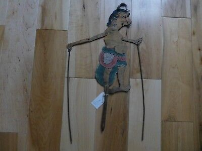 Rare Antique Indonesia Bali Hand Painted Leather  SHADOW PUPPET sp37