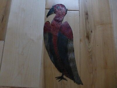 Rare Antique Hand Painted Leather  SHADOW PUPPET EAGLE sp39