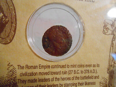 Genuine Ancient Coin From the Roman Empire in plastic case