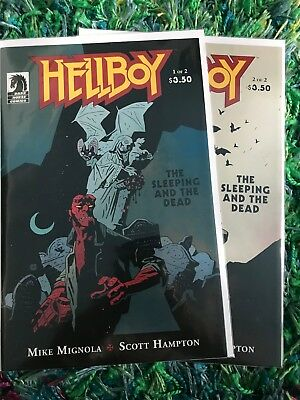 Hellboy The Sleeping and the Dead 1-2 complete Dark Horse Comics Mike Mignola
