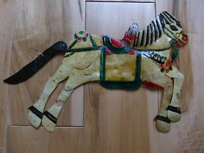 Rare Antique Hand Painted Leather  SHADOW PUPPET HORSE sp41
