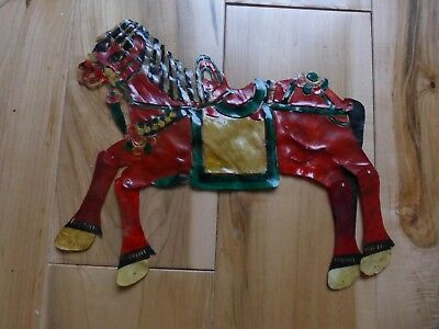 Rare Antique Hand Painted Leather  SHADOW PUPPET HORSE sp42