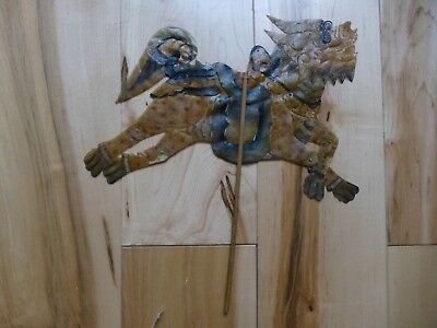 Rare Antique Hand Painted Leather  SHADOW PUPPET HORSE sp43