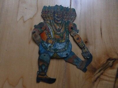Rare Antique Hand Painted Leather  Indian SHADOW PUPPET sp44