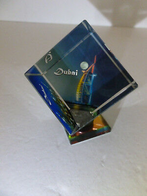"""Beautiful  Dubai Glass Paperweight  3 1/2"""" Inches in Height."""