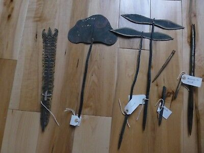Rare Antique Asian Hand Painted Leather SHADOW PUPPET Spares JOB LOT sp46 & 18
