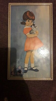 VINTAGE 60's-70'sBIG EYED GIRL PICTURE