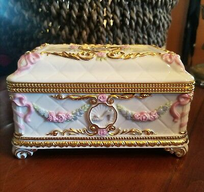The Franklin Mint, House Of Faberge, Once Upon A Dream Musical Jewelry Box