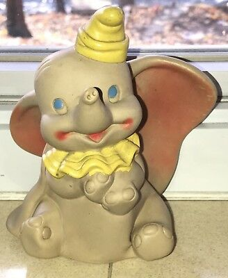 Vintage Dumbo Rubber Squeak Toy By Dell Walt Disney Productions
