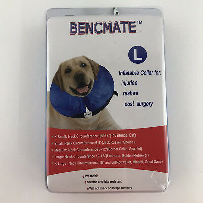 Protective Inflatable Collar for Dogs Size L Blue By Bencmate