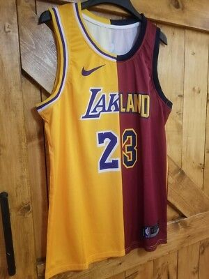 Los Angeles LA Lakers / Cleveland Cavaliers CAVS #23 LEBRON JAMES Jersey *CUSTOM