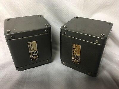 pr 1950's era Peerless S-265-Q 20-20 series huge potted output transformers W-E