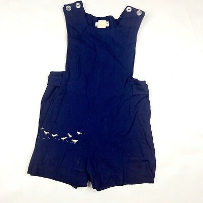 Vintage Kids Saks Fifth Ave Blue Ducks Jon Jon Romper Sz4Y As-is