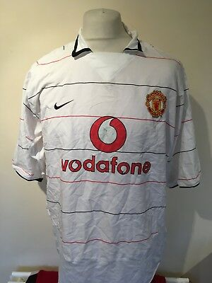 Vintage Manchester United 2003-05 Third Kit Football Shirt XL Mens