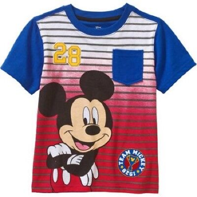 Disney Mickey Mouse Baby Toddler Boy Short Sleeve T Shirt Size 3T NWT