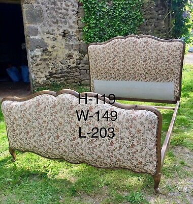 French Upholstered Country Style Bed, Farmhouse, Shabby Chic.
