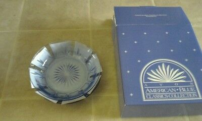"""Avon American Blue Classics Collection Set Of 2 - 6-3/4"""" Soup Bowls New"""
