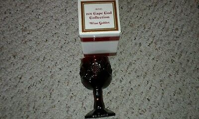 """Avon 1876 Cape Cod Collection Ruby Red 4 1/2"""" Tall Wine Goblet"""