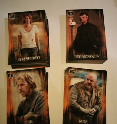 2018 Walking Dead Hunters & Hunted Huge Lot Of 129 orange rust parallel Cards