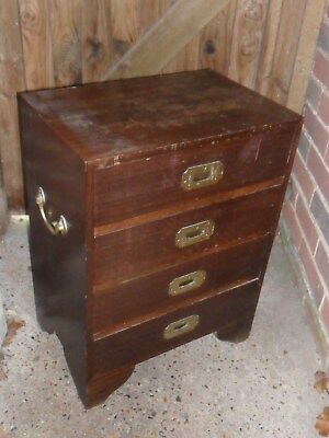 Vintage Military Campaign Small Chest Of Drawers,Furniture -Collection only