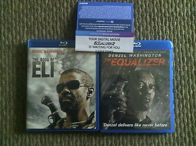 the book of eli & equalizer Blu Ray & equalizer 2 code