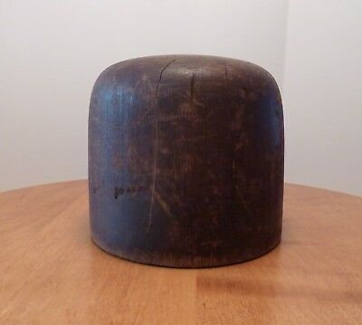 Early Antique Solid Wooden Hat Block, Mold Millinery