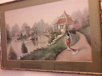 Antique Japanese / Chinese Watercolour Paintings Signed 1920's / Beautiful!!
