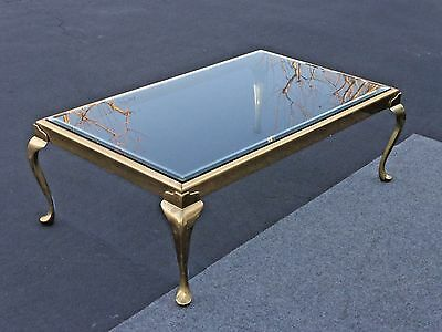 Vintage Oblong Brass Coffee Table by The Brass Collection by Melvin Wolf