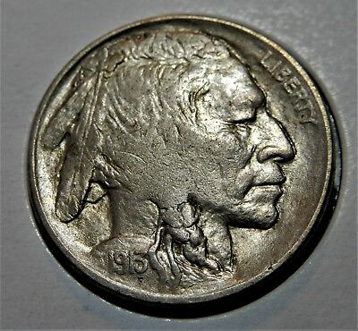 1913-P 5C TYPE 2 BUFFALO NICKEL EXTRA FINE to ALMOST UNCIRCULATED!!
