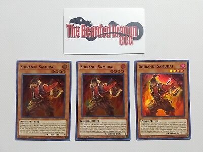 3x Shiranui Samurai HISU-EN049 Super Rare 1st Edition Near Mint