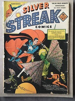 Silver Streak Comics #17 December 1941 Daredevil Gleason Pub.  *Fair Condition