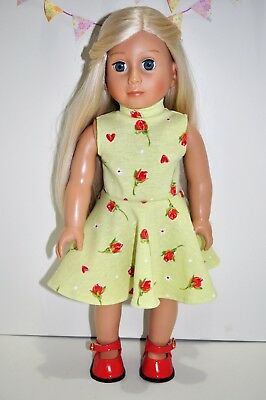 """American Girl Dolls Our Generation Gotz 18"""" Doll Clothes Skater Dress Only"""