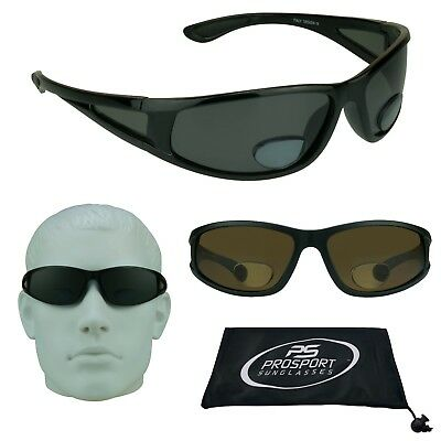 Fishing Polarized Bifocal Sunglasses Side Shield Window Mens Reading Free Strap